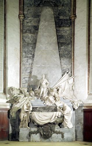 Tomb of Marshal Maurice de Saxe 1756 by Jean-Baptiste Pigalle