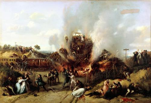 Disaster on the Railway between Versailles and Bellevue 1842 by A. Provost