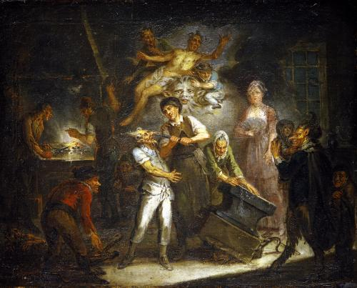 Fantastical Scene by Antoine Francois Saint-Aubert