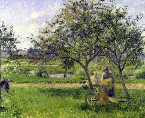 The Wheelbarrow Orchard c.1881 by Camille Pissarro