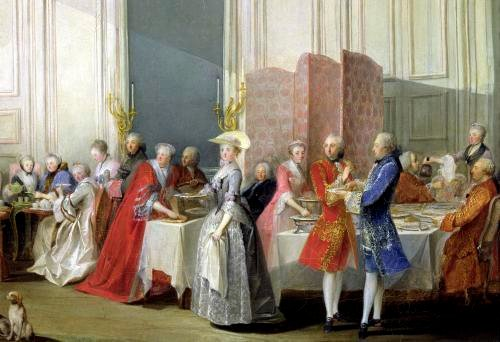 English Tea in the Salon des Quatre Glaces 1766 by Michel Barthelemy Olivier