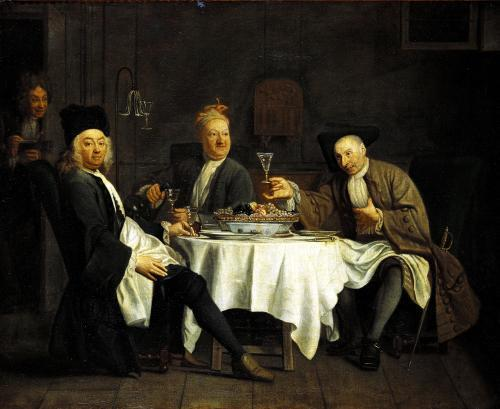 The Poet Alexis Piron at the Table with his Friends by Etienne Jeaurat