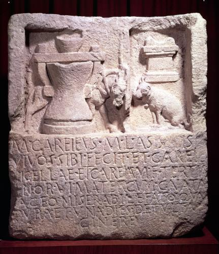 Stele of the miller Marcus Careius Asisa by Roman Art