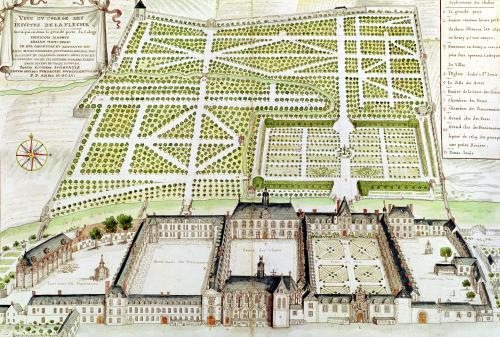View of the Jesuit College in La Fleche 1655 by French School