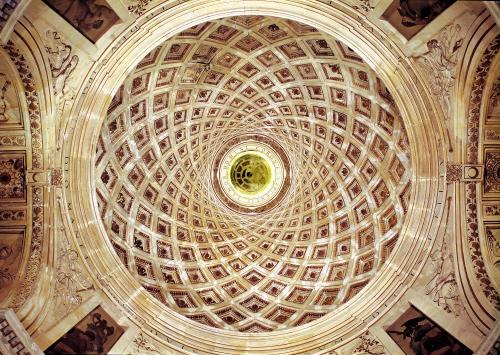 Interior view of the cupola in the chapel by Philibert Delorme