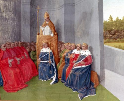 Urban II Preaching the Crusade at Clermont in the Presence of King Philippe I by Jean Fouquet