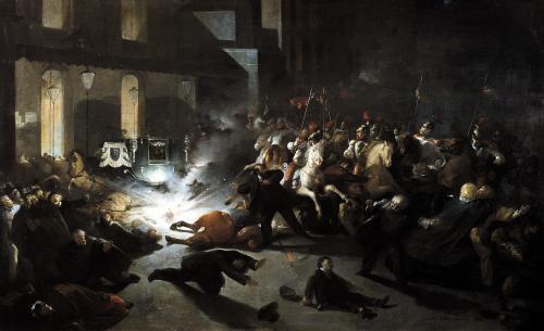 The Attempted Assassination of Emperor Napoleon III 1862 by Vittori Romano