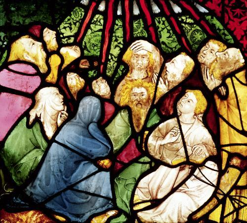The Descent of the Holy Spirit c.1400 by French School