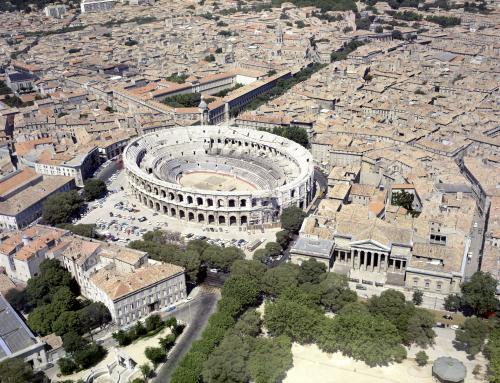 Aerial view of the Roman amphitheatre by Anonymous