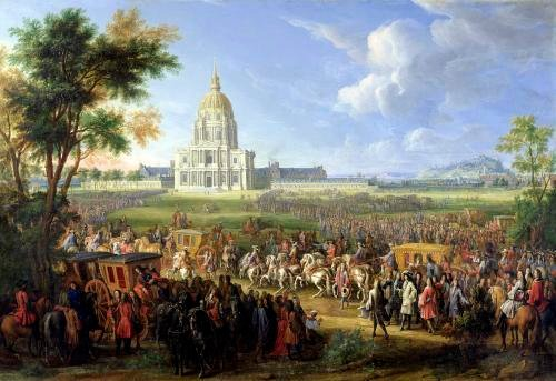 Louis XIV and his Entourage Visiting Les Invalides 1706 by Pierre-Denis Martin