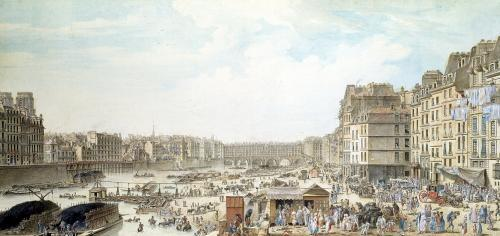 The Port au Ble and the Pont Notre-Dame 1782 by Louis-Nicolas de Lespinasse