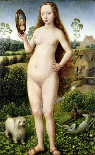 Vanity central panel from Earthly Vanity and Divine Salvation by Hans Memling