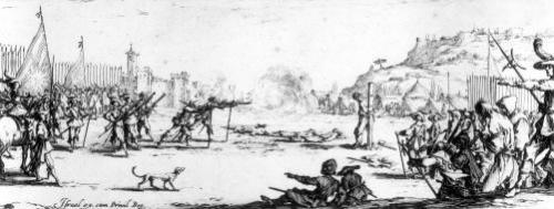 The Firing Squad plate 12 'The Miseries and Misfortunes of War' by Jacques Callot