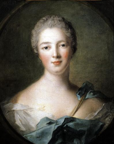 Madame de Pompadour 1748 by Jean-Marc Nattier