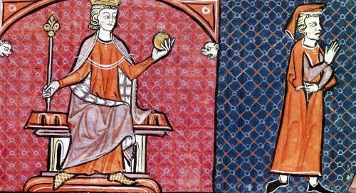 A Woman Taking an Oath before King James I of Majorca 1292 by Spanish School