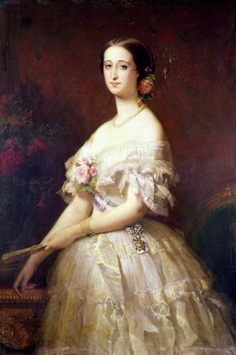 Portrait of Empress Eugenie 1854 by Claude-Marie Dubufe