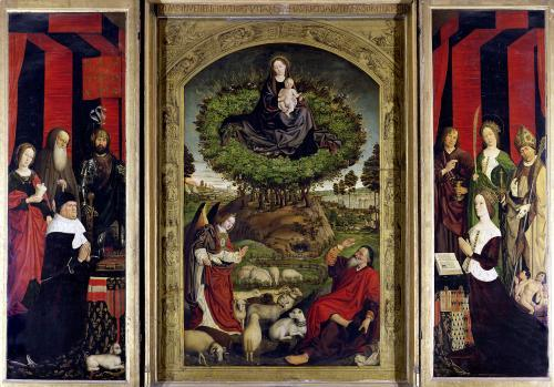 The Triptych of Moses and the Burning Bush c.1476 by Nicolas Froment