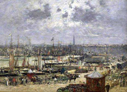 The Port of Bordeaux 1874 by Eugene Louis Boudin