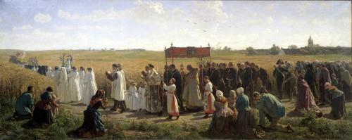 The Blessing of the Wheat in the Artois 1857 by Jules Adolphe Breton