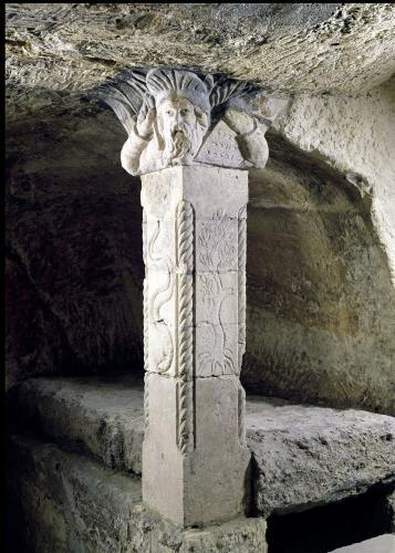 Column from the crypt with the head of Moses forming the capital by Paleo-Christian