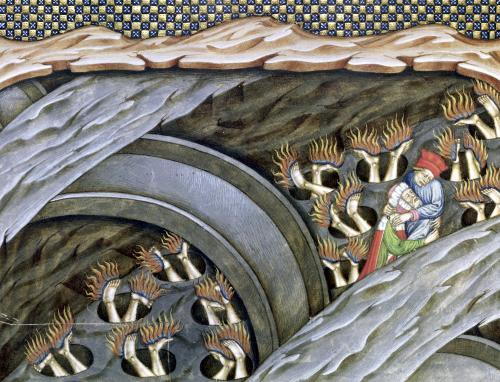 Dante's Inferno with a commentary by Italian School