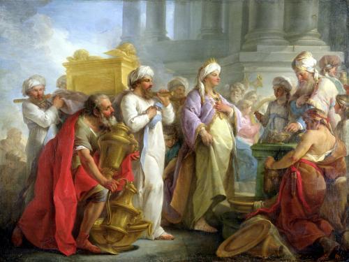 Solomon Before the Ark of the Covenant 1747 by Blaise Nicolas Le Sueur