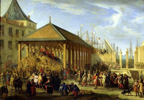 Jean-Baptiste Colbert Marquis de Seignelay and Louis Victor de Rochechouart by Jean Baptiste La Rose I