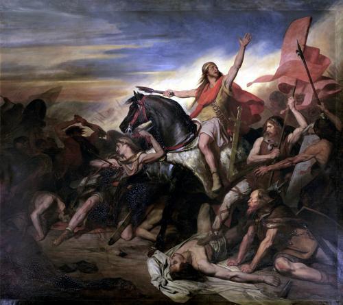Battle of Tolbiac by Ary Scheffer