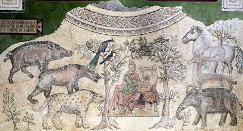 Orpheus charming the animals by Roman Art