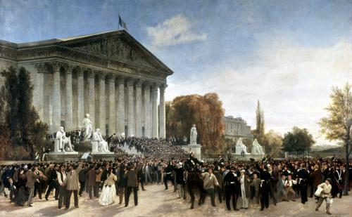 The Palais du Corps Legislatif after the Last Sitting 1870 by Jacques Guiaud
