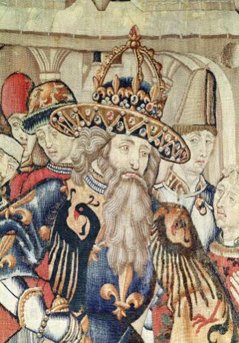 Head of Charlemagne Tournai workshop by Flemish School