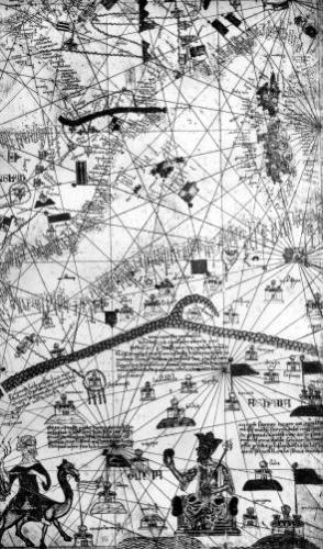 Detail from the Catalan Atlas 1375 by Abraham Cresques