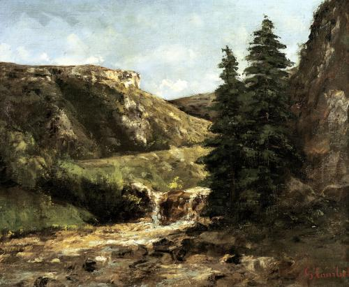Landscape near Ornans c.1858 by Gustave Courbet