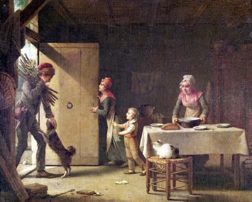 The Rustic Family 1815 by Michel-Martin Drolling