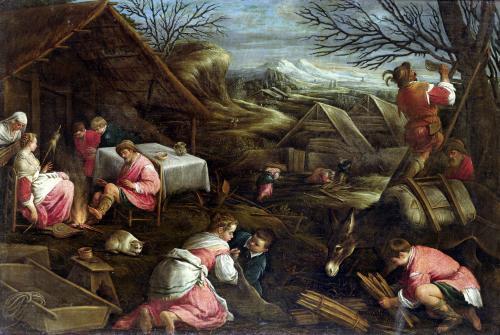 Winter by Jacopo Bassano