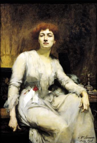 Portrait of Severine 1893 by Amelie Beaury-Saurel
