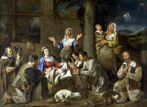 Adoration of the Shepherds c.1659 by Jean Michel