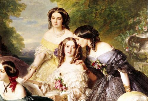 Empress Eugenie Surrounded by her Ladies-in-Waiting 1855 (Detail) by Franz Xavier Winterhalter