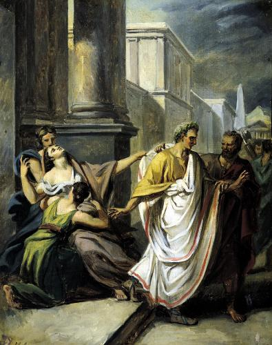 Julius Caesar on his way to the Senate on the Ides of March by Abel de Pujol