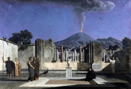 Dream in the Ruins of Pompeii 1866 by Paul Alfred de Curzon