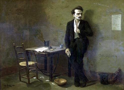 Henri Rochefort in Mazas Prison 1871 by Armand-Desire Gautier