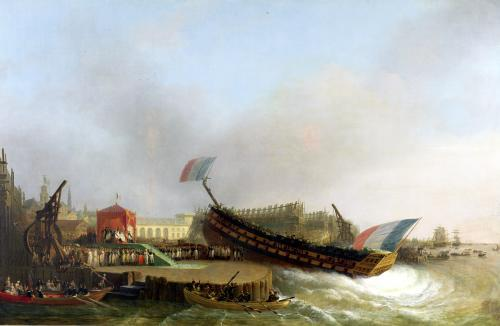 Napoleon and Marie-Louise at the Launch of 'The Friedland' at Antwerp 1810 by Mathieu Ignace van Bree