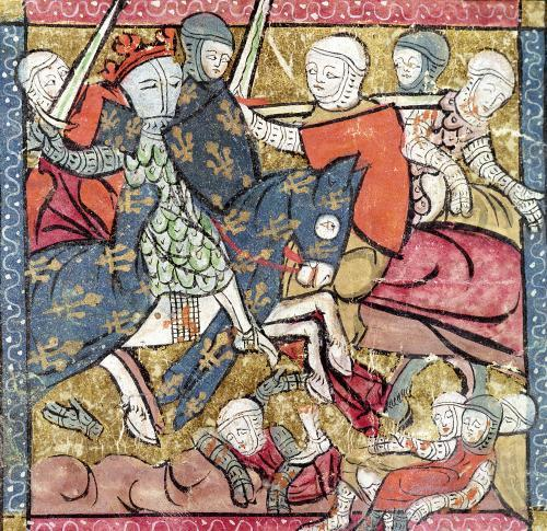 The Capture of Ferdinand of Portugal 1214 by French School
