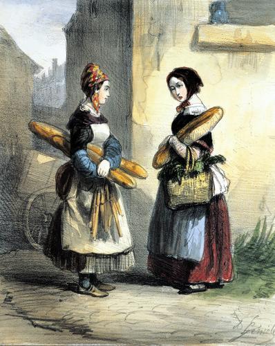 The Baker's Art plate 27 'Les Femmes de Paris' 1841 by Alfred Andre Geniole
