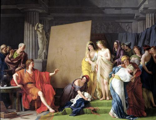 Zeuxis Choosing Models from the Beautiful Women of Croton 1789 by Francois Andre Vincent