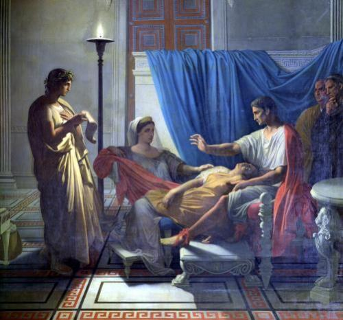 Virgil Reading the Aeneid to Livia Octavia and Augustus c.1812 by Jean-Auguste-Dominique Ingres