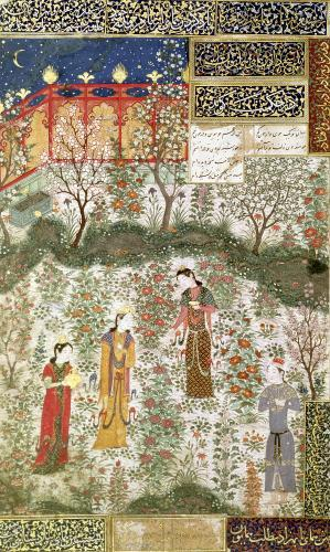 The Persian Prince Humay Meeting the Chinese Princess Humayun c.1450 by Islamic School