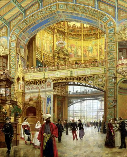 The Central Dome of the Universal Exhibition of 1889 by Louis Beroud