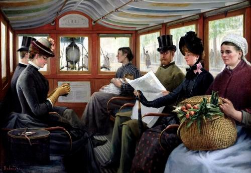 On the Omnibus 1880 by Maurice Delondre