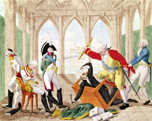 Shame and Regret a Tragi-Comic Play, 1805 by French School
